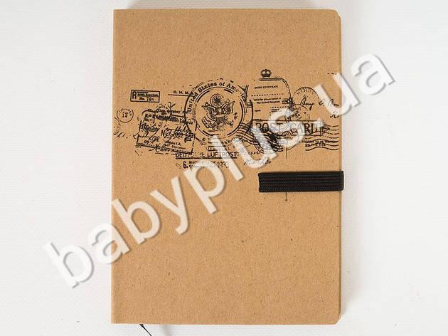 Блокнот РЕТРО на резинке 64листа, с карманом сзади, линия Eno-note-172, фото 2