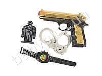 Набор полицейского, пистолет, пули-присоски 3шт, микс видов, в кульке 562-4-5-6-7