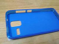 Чехол накладка Lenovo S580 панель бампер синий