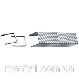 Скобы, 6 мм, для мебельного степлера, заостренные, тип 53, 1000 шт.// MTX