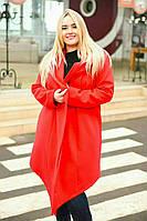 """Женское кашемировое пальто на запах """"Miranda"""" с капюшоном (большие размеры)"""