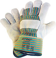 Перчатки спилковые кожанные комбинированные