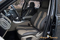 Модная перетяжка сидений автомобиля алькантара-кожа