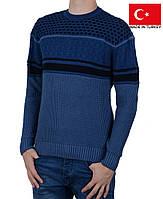 Яркий зимний свитер на мальчика-подростка.