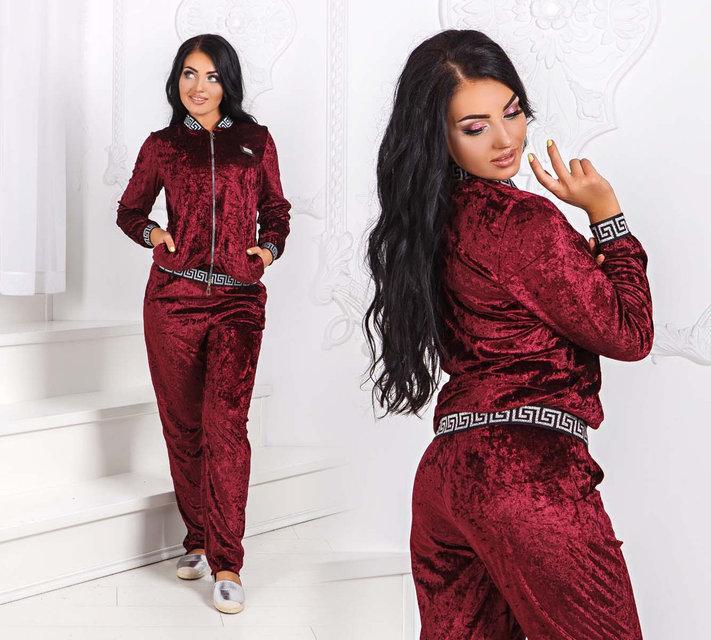 c75906a7a951 Купить Женский велюровый спортивно-прогулочный костюм 1151
