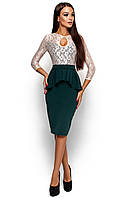 Платье с баской Мускат