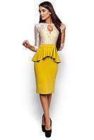 Платье с баской Мускат, фото 1