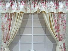 """Кухонный набор штор """"Цветочный Сад"""", фото 3"""