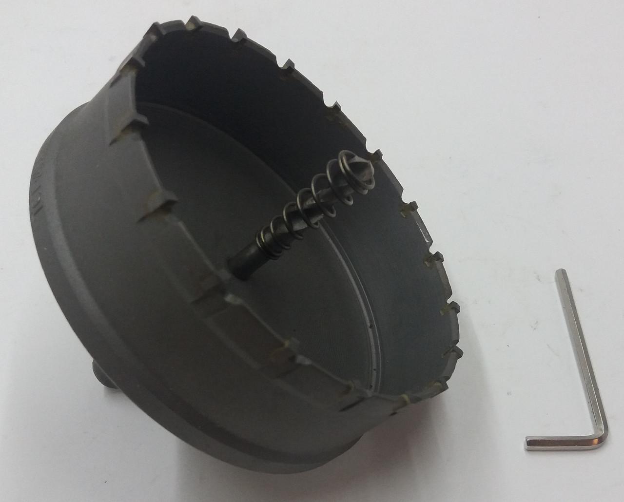 Коронка Универсальная по металлу 120 MM с победитовыми напайкой