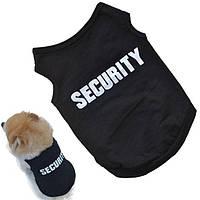 Модная жилетка для собаки черная Секьюрити