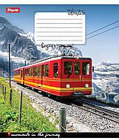 "Тетрадь 12 клетка ""1 Вересня"" Trains Nature"