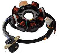 Статор (генератор) на скутер 4T GY6 125/150, 7+1 катушек