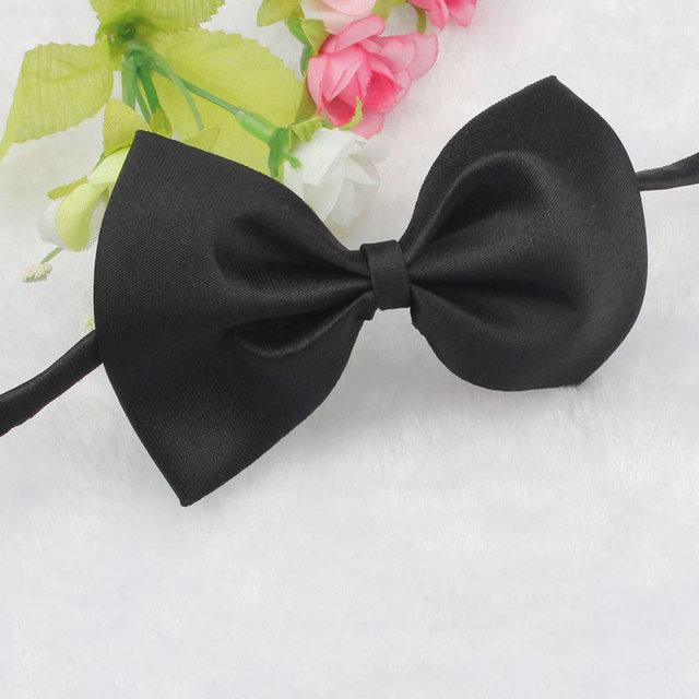 Черный галстук Бабочка на шею для собаки