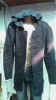 Свитер мантия джинсовый