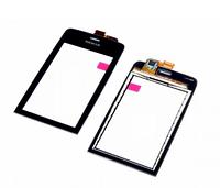 Тачскрин (сенсор) Nokia 308 Нокиа, 309, 310 Asha, цвет черный
