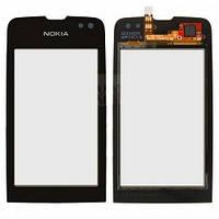 Тачскрин (сенсор) для Nokia 311 Asha Нокиа, цвет черный