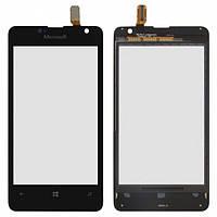 Тачскрин (сенсор) Nokia 430 Lumia Microsoft, цвет черный