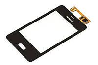 Тачскрин (сенсор) Nokia 501 Нокиа, цвет черный