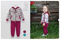 Костюм для девочек 1 год Бирюзовый, рисунок Трокотаж КС533(86) Бэмби Украина