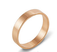 Золотое обручальное кольцо Яркая класскика