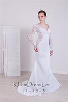 Свадебное белое платье прямого силуэта