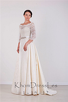 Платье подвенечное из жакарда