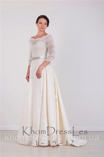 3e4c52819c5 Платье подвенечное из жакарда -