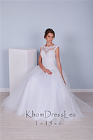 Свадебное пышное белое платье