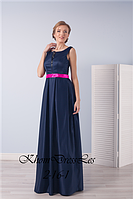 Атласное платье с прозрачной спиной