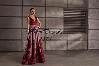 Вечернее аласное платье с принтом
