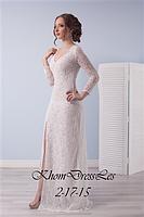 Кружевное платье с рукавом и распоркой
