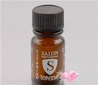 Укрепляющее покрытие-блеск Salon Professional Titanium Top Coat для натуральных ногтей (15 мл