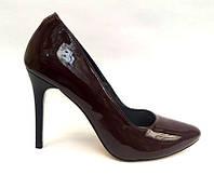 Женские туфли на шпильке лаковая кожа, натуральная кожа/замша разные цвета 0014СОФ