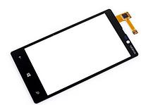 Тачскрин (сенсор) Nokia 820 Нокиа lumia, цвет черный