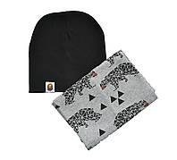 Шапка и шарф снуд набор для взрослых