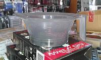 Миска для окрашивания волос прозрачная с мерной шкалой (250мл)