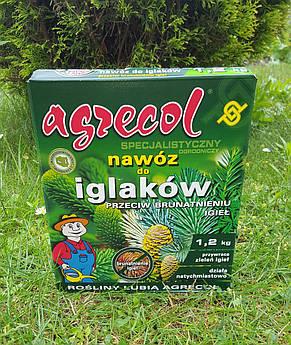 Удобрение Agrecol для ХВОЙНЫХ растений от пожелтения хвои 1,2кг (гранулированное), фото 2
