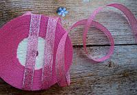 Стрічка парчева 6 мм  № 03 рожева