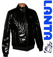 Мужская  демисезонная куртка кожа лак