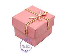 Коробочка Классическая для колец и сережек Розовая