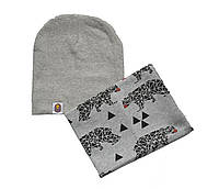 Набор шапка и шарф хомут демисезонный