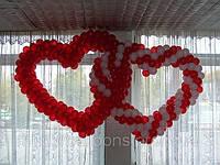 Плетеные сердца из воздушных шаров