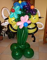 Цветы из воздушных шаров и фигур из шаров