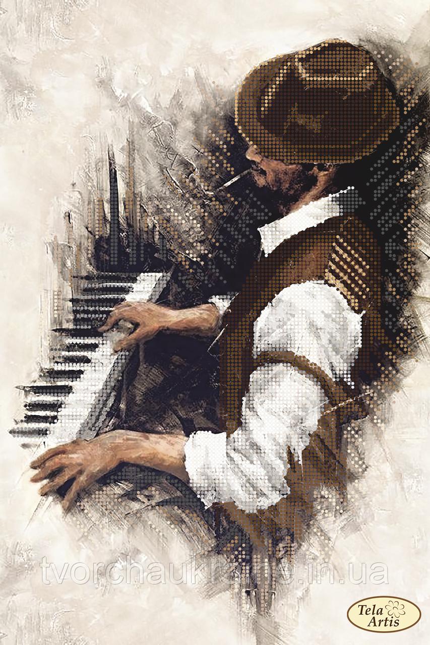 Схема для вышивания бисером Джаз. Пианино