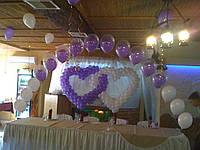 Украшение воздушными шарами на свадьбу, фото 1