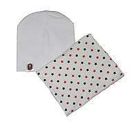 Набір шапка і шарф хомут демісезонний