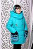 Детское зимнее пальто на подростка девочку Фенди на рост от 128см до 152см