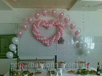 Свадебное оформление зала воздушными шарами