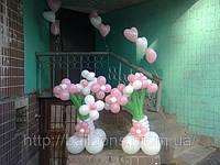 Свадебное украшение зала воздушными шариками, фото 1
