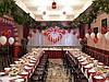 Свадебное украшение зала воздушными шарами